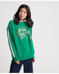 Superdry Boutique Classics Standard Crew Sweatshirt - Green