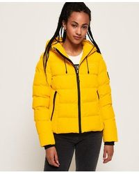 Superdry Spirit Sports Puffer - Yellow