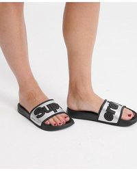 Superdry Eva 2.0 Pool Sliders - Metallic