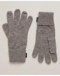 Superdry Heritage Ribbed Gloves Guantes para clima frío - Gris