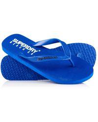 Superdry Beach Co. Teenslippers - Blauw