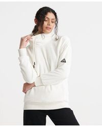 Superdry Storm Plush Overhead Track Top - White