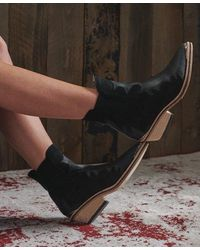 Superdry Dry Flame Boots - Black