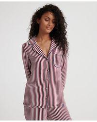 Superdry Weekender Luxe Pj Shirt - Red