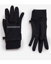 Superdry Sport Guantes interiores Snow para usar con los guantes de nieve - Negro