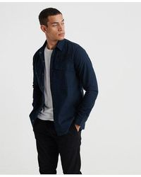 Superdry Utility Field Edition Long Sleeved Shirt - Blue