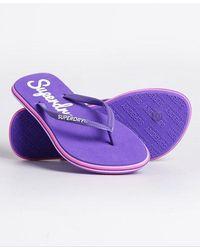 Superdry Neon Rainbow Sleek Flip Flop - Purple