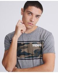 Superdry - Core Logo Camo Stripe T-shirt - Lyst
