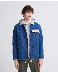Superdry Worker Chore Coat - Blue