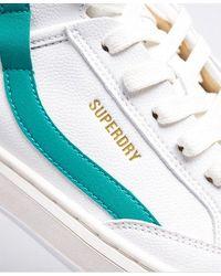Superdry Vegan Basket Lux Sneakers - White
