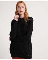 Superdry Jersey Jayden Luxe con capucha - Negro