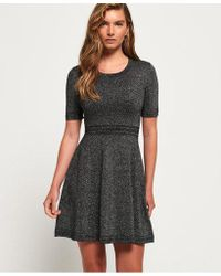 Superdry - Riley Fit & Flare Knitted Dress - Lyst