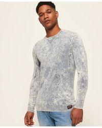Superdry - Garment Dye L.a. Splatter Crew Jumper - Lyst