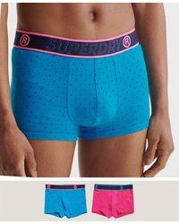 Superdry Pack de 2 calzoncillos de algodón orgánico - Azul