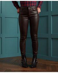 Superdry Skinny Jeans Met Hoge Taille - Rood