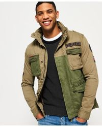 Superdry - Rookie Mixed Military Jacket - Lyst