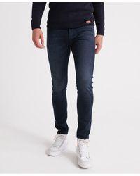 Superdry Tyler Slim Flex Jeans | Gris clair - - W32 - Bleu