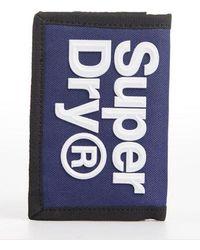 Superdry Cartera con logo - Azul