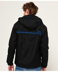 Superdry Pop Zip Arctic Hooded Sd-windcheater Jacket - Black