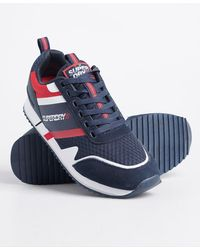 Superdry Fero Runner Core Trainers - Blue