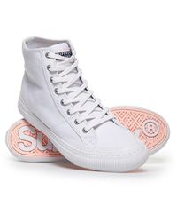 Superdry Pacific High Top Trainers - White