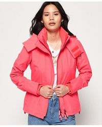 Superdry Technical Hooded Pop Zip Sd-windcheater Jacket - Pink