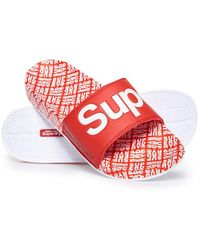 Superdry All Over Print Beach Sliders - Multicolour