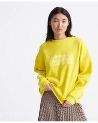 Superdry The Edit Slouchy Crew Neck Sweatshirt - Yellow