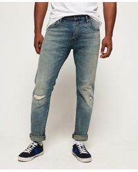 Superdry Daman Straight Jeans - Blue