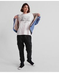 Superdry Luxe Utility Joggers - Grey