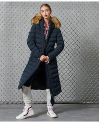 Superdry Arctic Long Puffer Coat - Blue