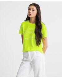 Superdry Vintage Logo Outline Pop T-shirt - Yellow