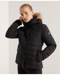 Superdry Classic Faux Fur Fuji Jacket - Black