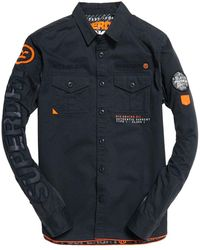 Superdry Military Storm Shirt - Blue