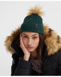Superdry Lannah Cable Beanie - Green