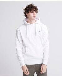 Superdry Collective Loopback Hoodie - White