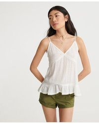 Superdry Summer Lace Cami Top - White
