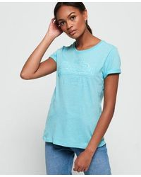 Superdry Vintage Logo Tonal Sequin T-shirt - Blue