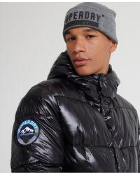 Superdry Blouson aviateur High Shine - Noir