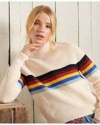 Superdry Whitaker Stripe Crew Sweater - Multicolour