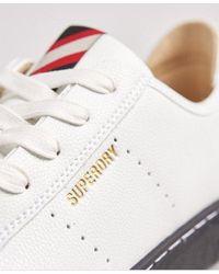 Superdry Vegan Basket Lux Low Sneakers - White