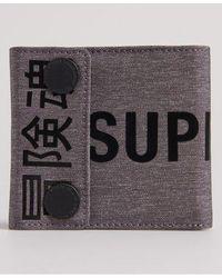 Superdry Detroit Popper Wallet - Gray