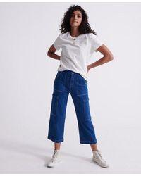 Superdry Wide Leg Utility Jeans - Blue
