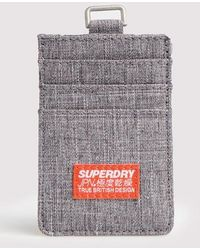Superdry Fabric Card Holder - Grey