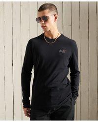Superdry Vintage T-shirt Met Borduursel Van Biologisch Katoen - Zwart