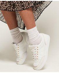 Superdry Premium Court Sneakers - White