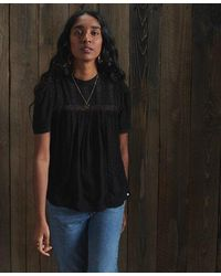 Superdry Belle Blouse - Black