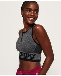Superdry - Active Panel Seamless Bra - Lyst