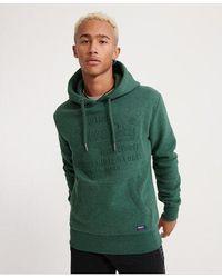 Superdry Sweat Shirt Shop Embossed Hoodie - Green