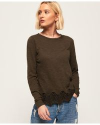 Superdry - Alma Lace Top - Lyst